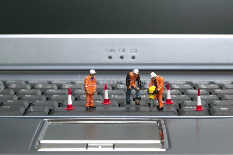 Keyboard workmen 2 royalty free stock photography