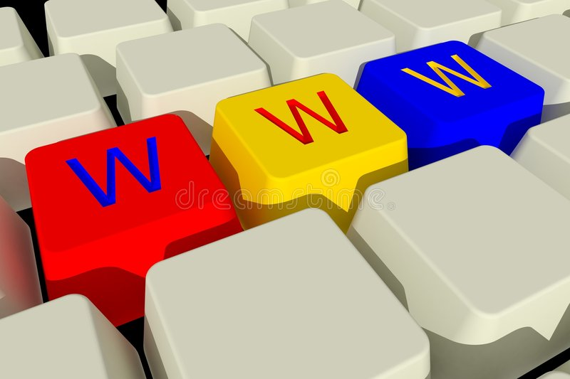 Download Keyboard Www Royalty Free Stock Photography - Image: 8381187