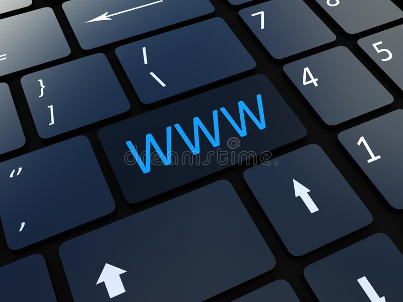 Download Keyboard WWW  Key Royalty Free Stock Images - Image: 33411019
