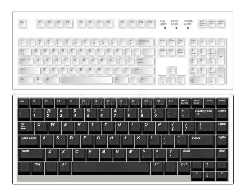 Download Keyboards stock vector. Image of office, desktop, computer - 12941786