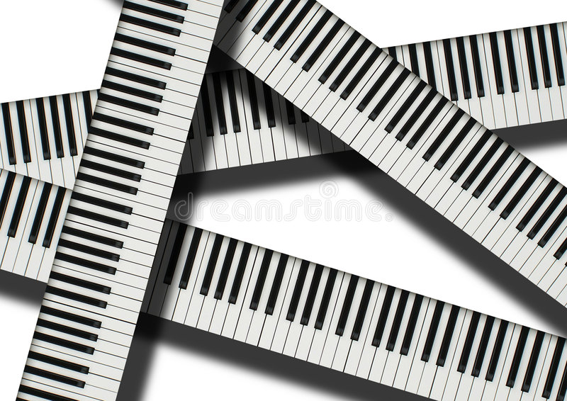 Download Keyboards stock illustration. Image of organ, songs, white - 7244402