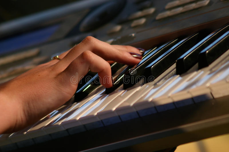 Keyboards on the concert royalty free stock images
