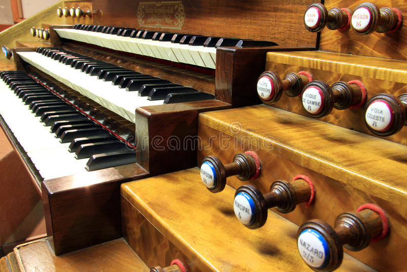 Keyboards of organ royalty free stock photo