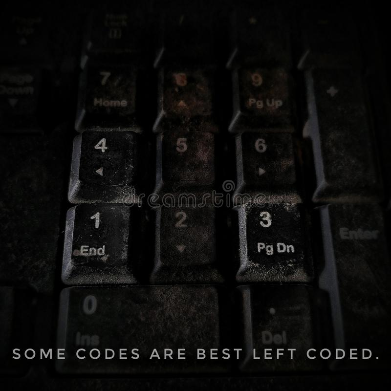 Keyboards with some keys highlighted stock images