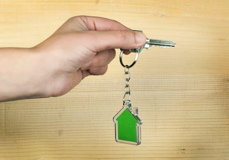 Keychain с диаграммой зеленого дома стоковое фото rf