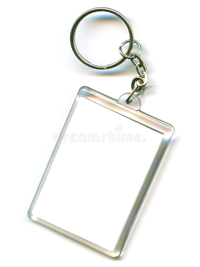 Keychain. As a frame with space for text or illustrations royalty free stock photography