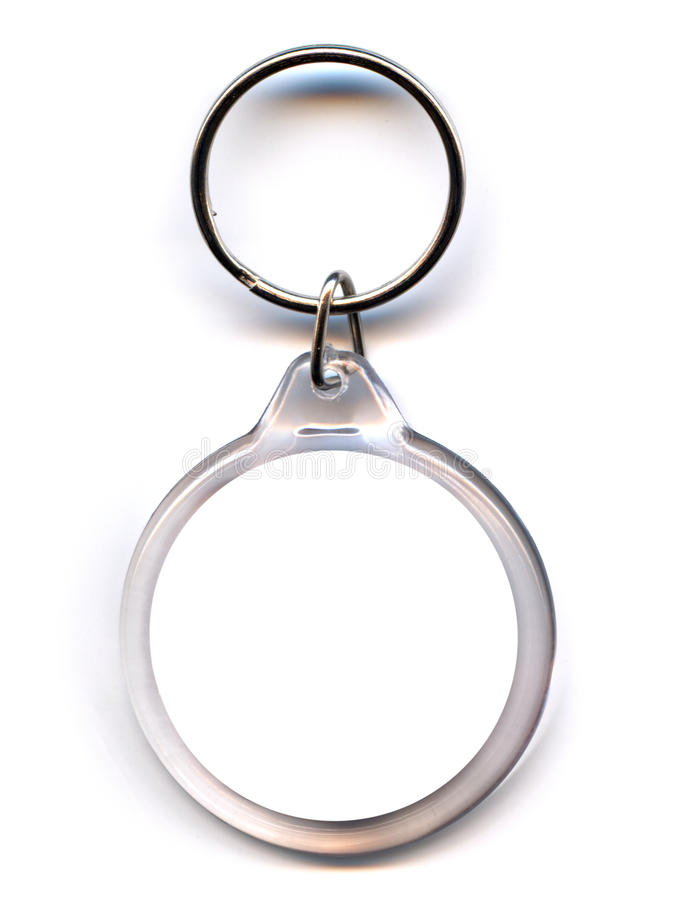 Keychain. As a frame with space for text or illustrations stock photography