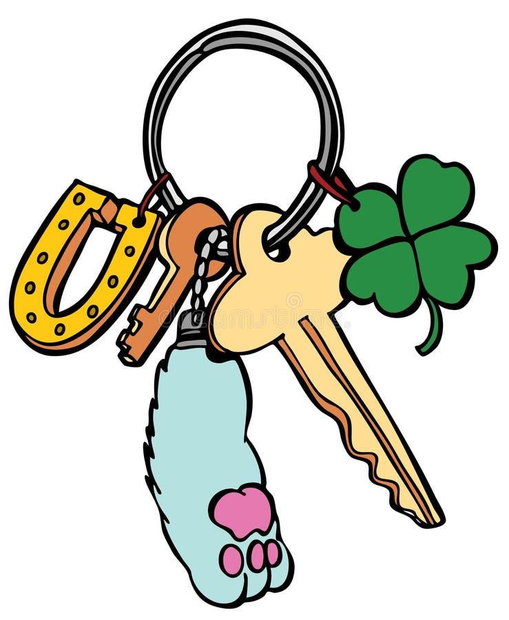 Keychain chanceux illustration libre de droits
