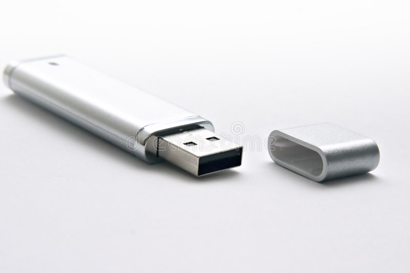 Keychain Del USB Immagini Stock
