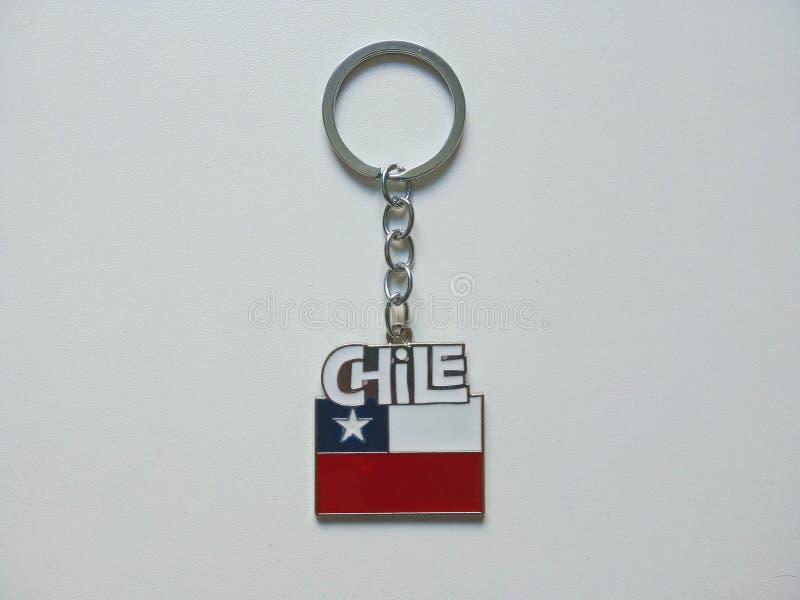 Keychain della bandiera del Cile fotografia stock