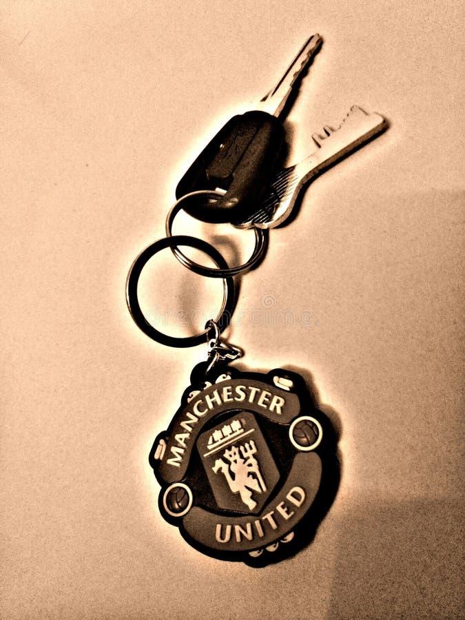 Keychain di Manchester United fotografia stock libera da diritti