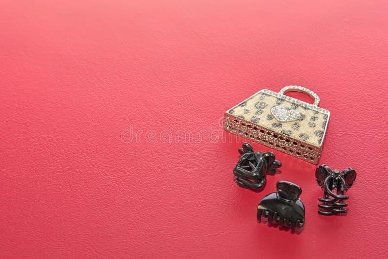 Keychain e grampos fotografia de stock royalty free