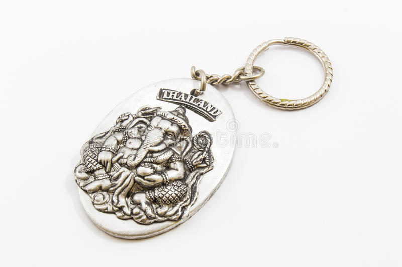 Keychain Ganesh isolated. On white royalty free stock photos