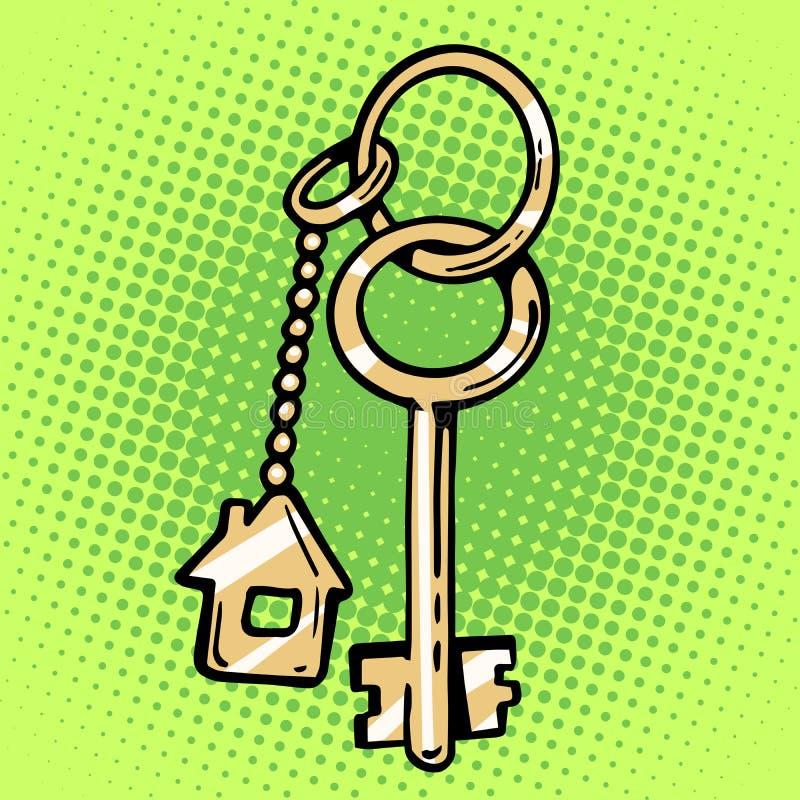 Keychain hustangenter vektor illustrationer
