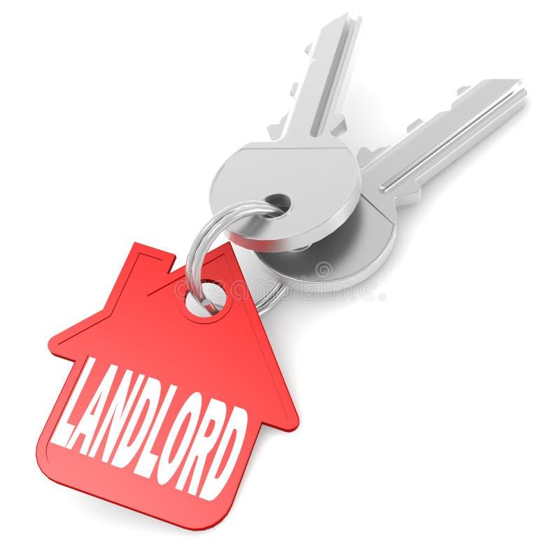 Keychain met het beeld van het eigenaarwoord stock illustratie