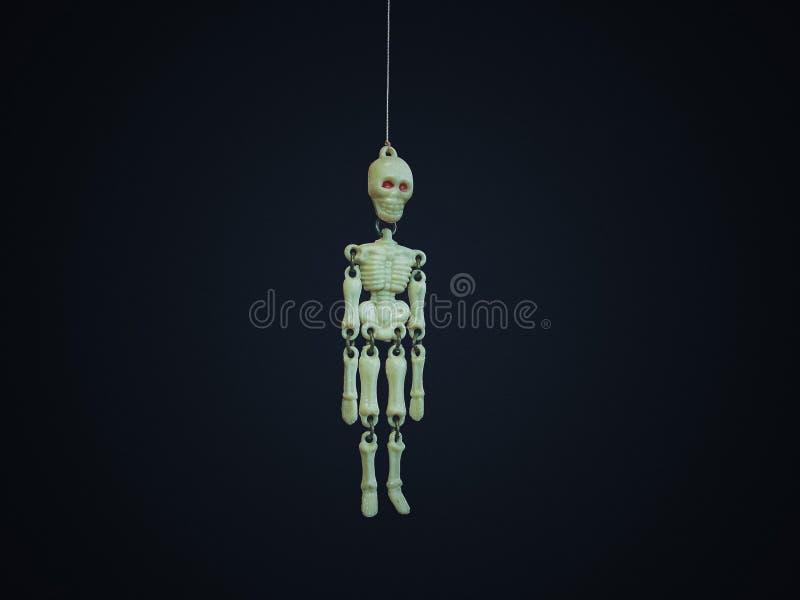 Keychain skelett royaltyfria bilder