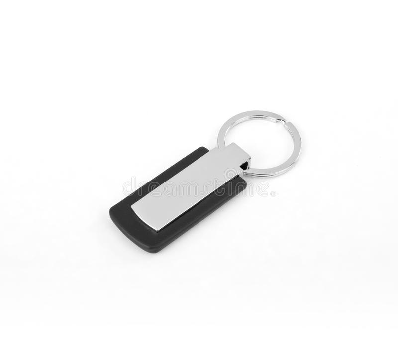 Keychain with space for text or logo. Keychain with space for text or logo royalty free stock photos