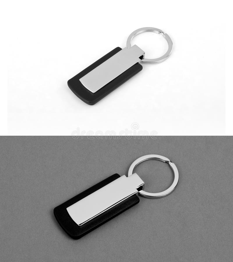 Keychain with space for text or logo.  stock photography