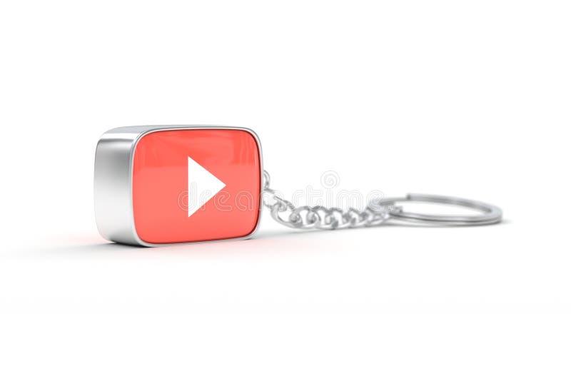 Keychain YouTube stock illustrationer