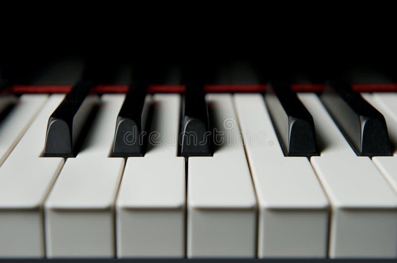 keyes pianino, blisko obraz stock