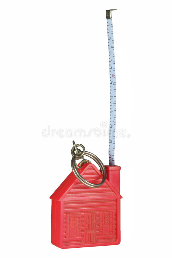 Keyholder测量的磁带 免版税库存照片