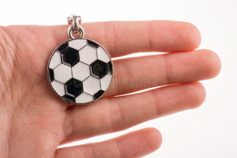 Keyholder a forma di di calcio disponibile immagini stock libere da diritti