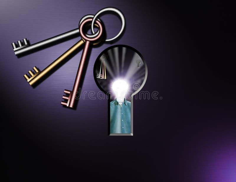 keyhole сюрреалистический иллюстрация вектора