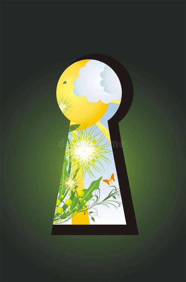 keyhole травы одуванчиков иллюстрация штока