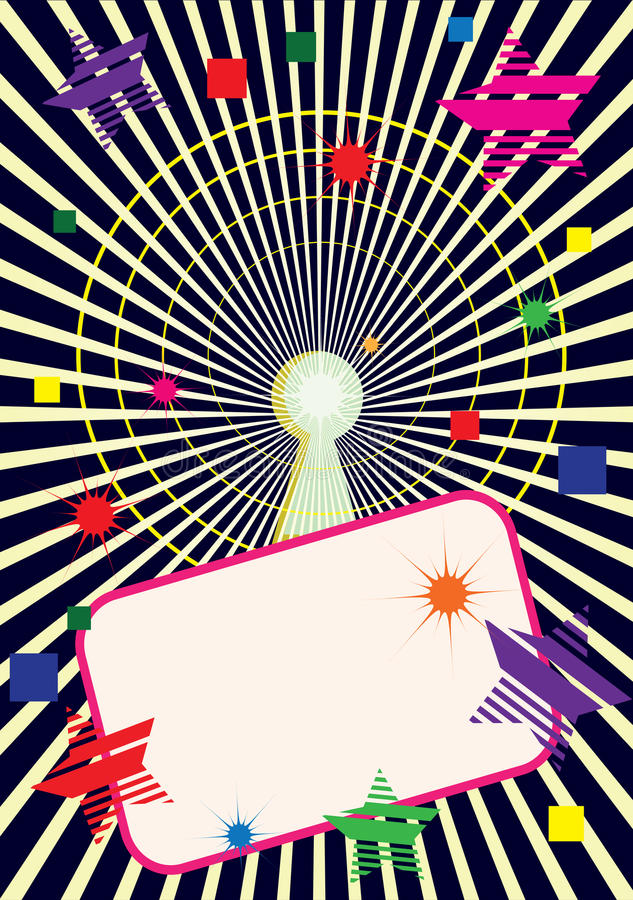 Download Keyhole stock vector. Image of psychedelic, retro, beam - 15911266