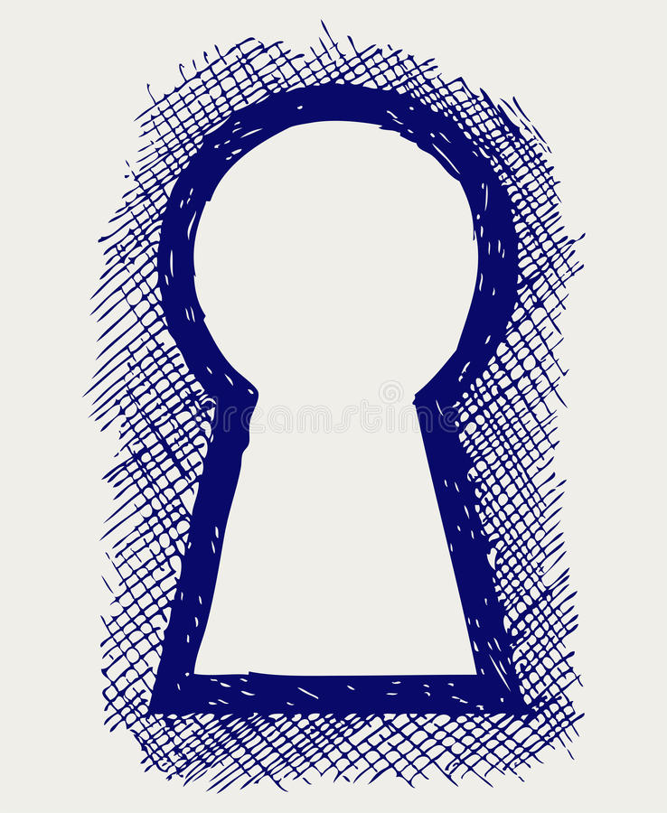 Download Keyhole stock vector. Image of draw, image, entrance - 28588345