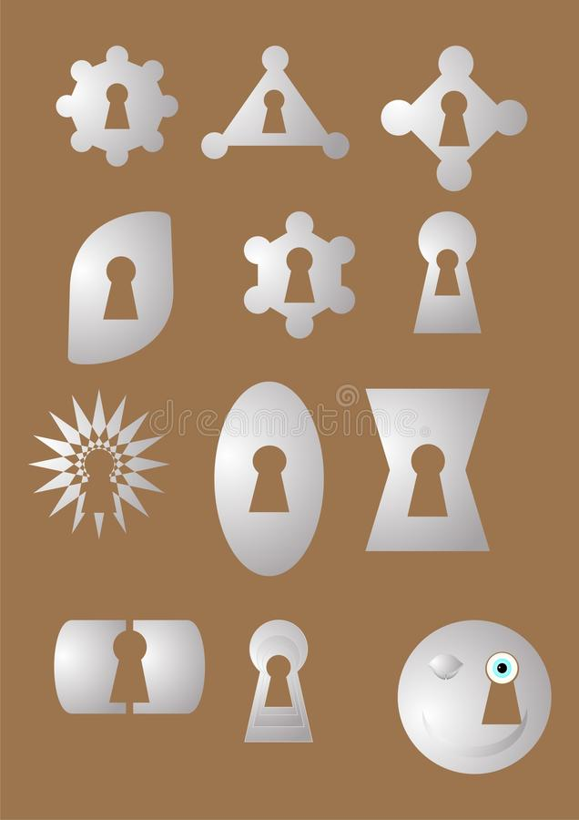 Keyhole Of The Different Form Royalty Free Stock Images