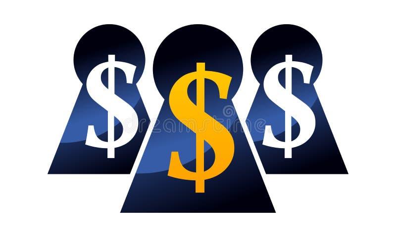 Keyhole Dollar Success. Logo Design Template Vector royalty free illustration