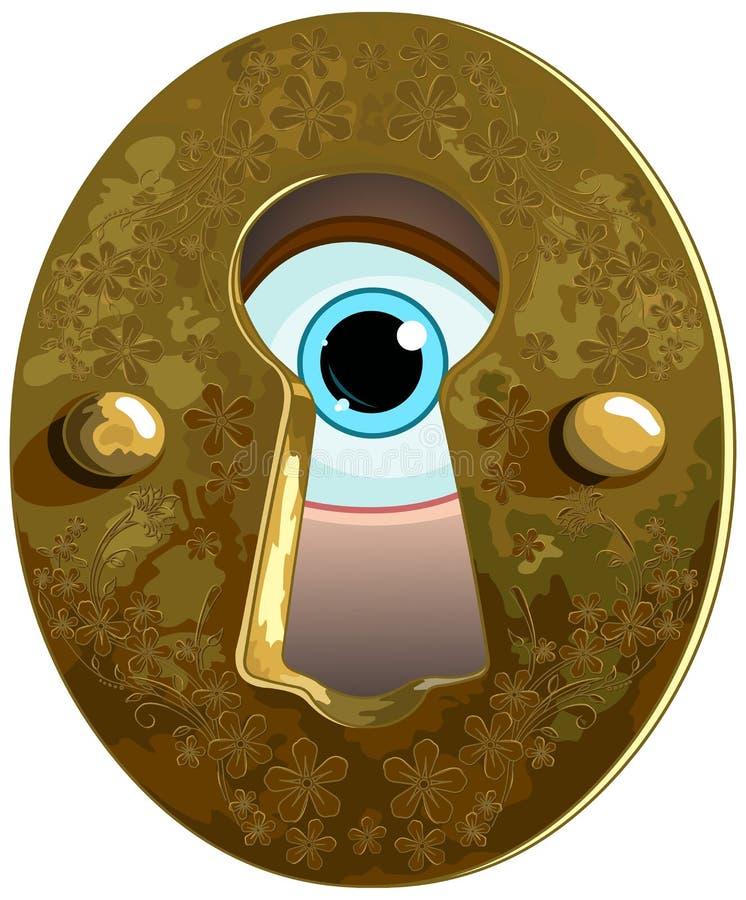 Keyhole stock vector. Illustration of door, bronze ...