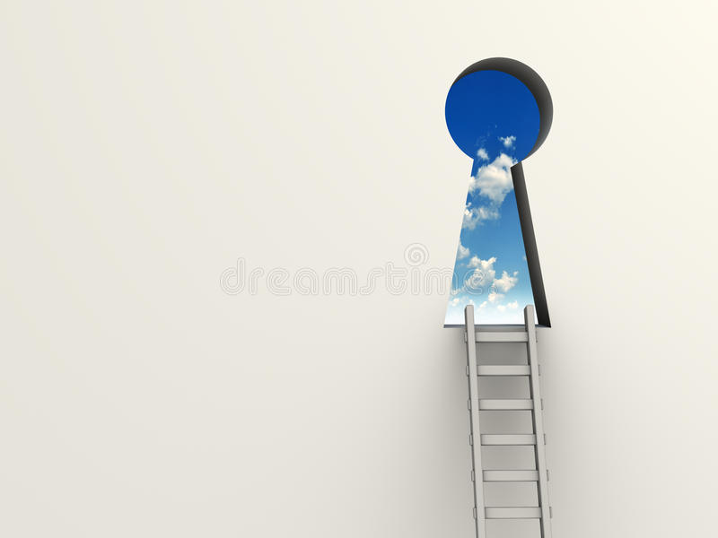 Download Keyhole and ladder stock illustration. Image of business - 11657461