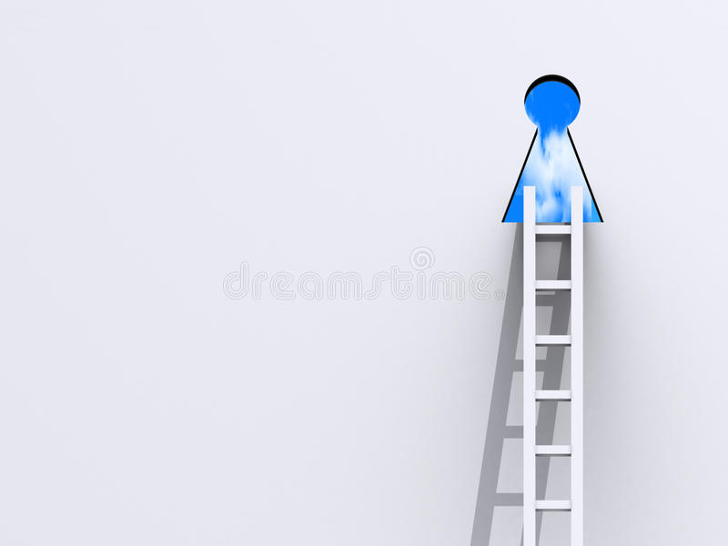 Download Keyhole And Ladder Stock Photo - Image: 19464330
