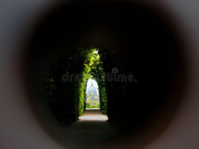 Keyhole na Aventine Rzym obrazy stock