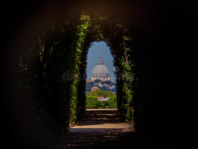 Keyhole, Roma, Italia imagen de archivo libre de regalías