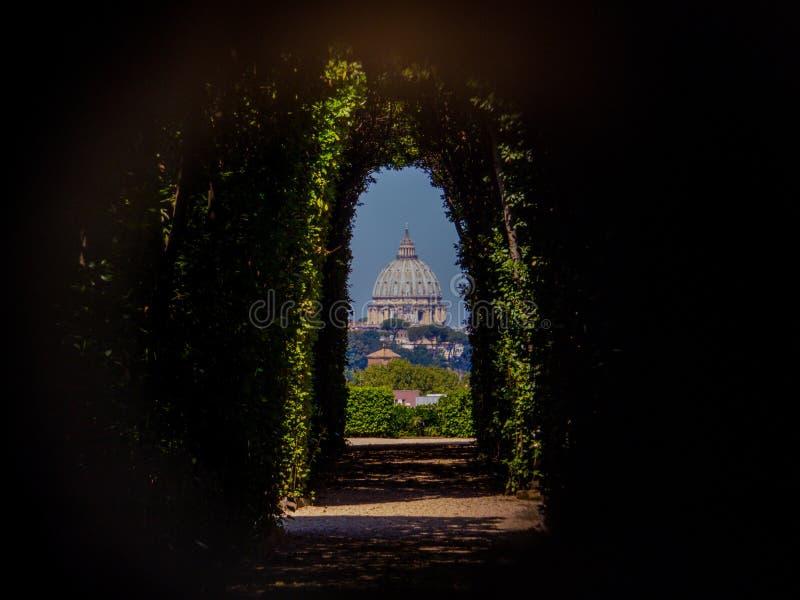 Keyhole, Rome, Italie image libre de droits