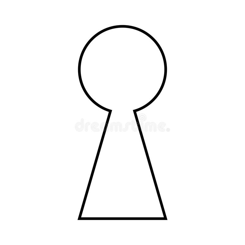 keyhole silhouette outline vector symbol icon design stock vector rh dreamstime com key in keyhole vector Vintage Keyhole Vector