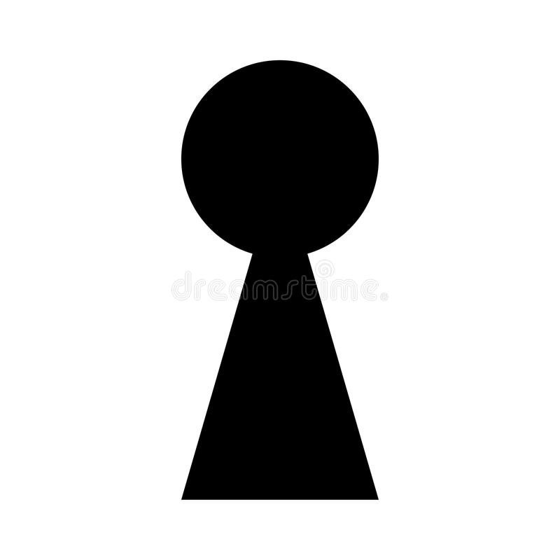 keyhole silhouette outline vector symbol icon design stock vector rh dreamstime com Magnifying Glass Clip Art Magnifying Glass Clip Art