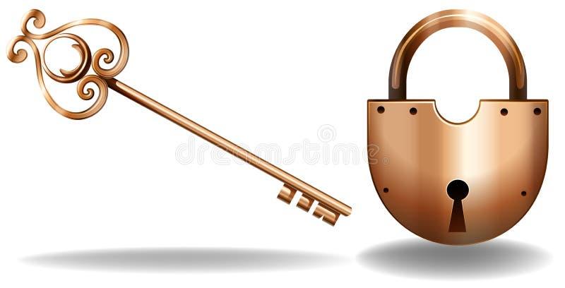 Keylock ilustração royalty free