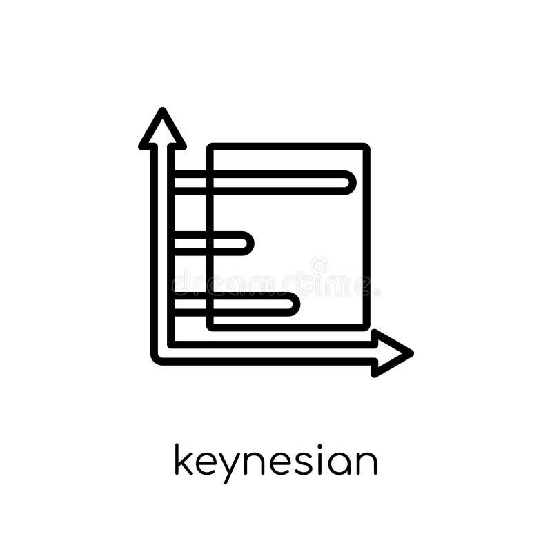 Keynesian nationalekonomisymbol  vektor illustrationer