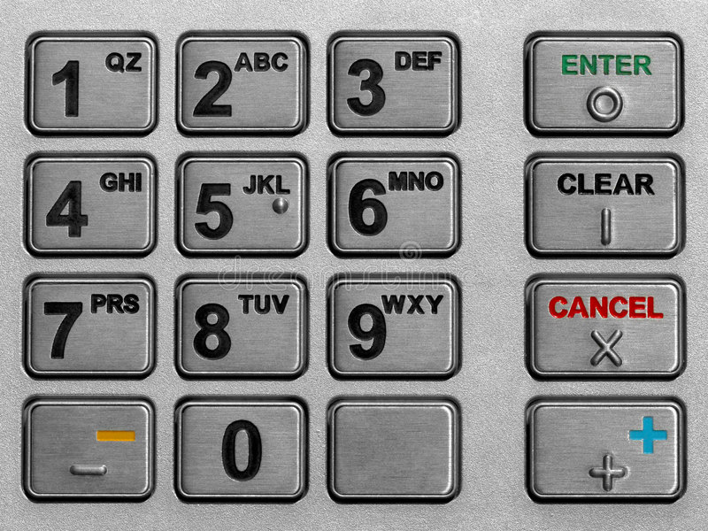 Download Keypad atm stock image. Image of bank, keypad, automated - 160763