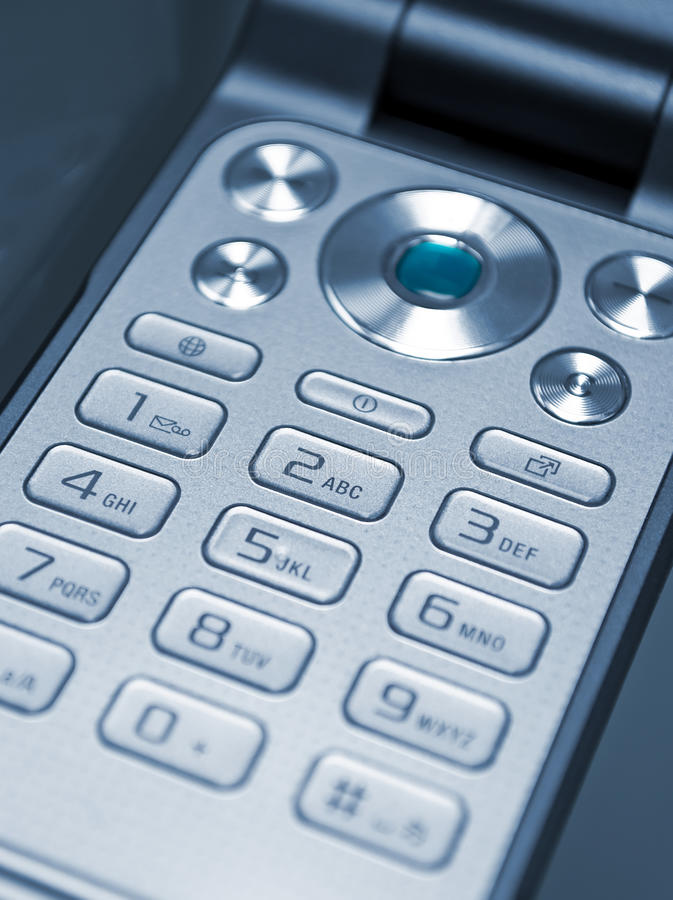 Keypad Of A Cell Phone Royalty Free Stock Photos