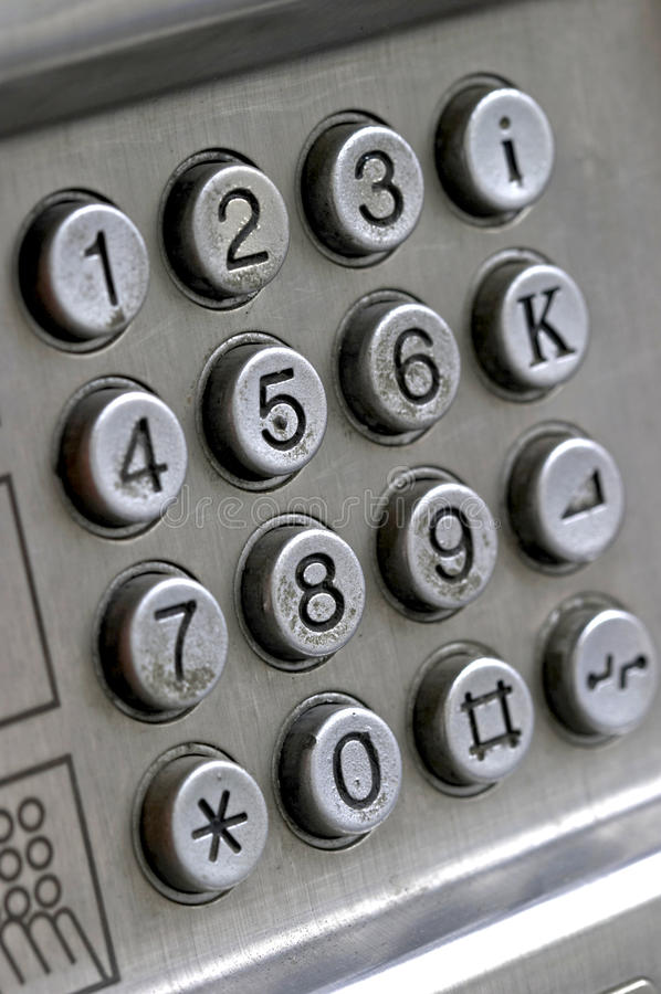 Free  Keypad From A Public Phone Device  Royalty Free Stock Photography - 11710767