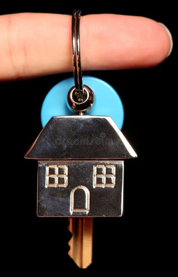 Keyring e chave da casa fotos de stock royalty free