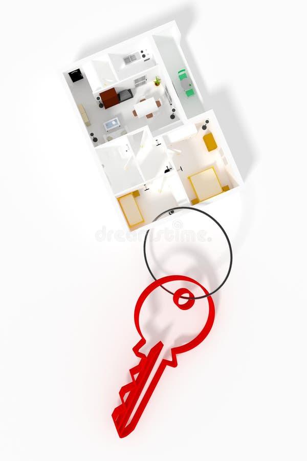 Download Keyring mieszkanie ilustracji. Ilustracja złożonej z biznes - 41955591