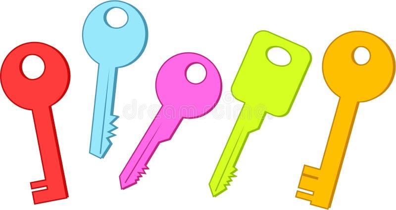 Keys royalty free illustration