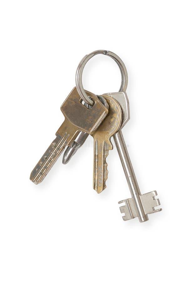Keys. House photo. isolated white background royalty free stock images