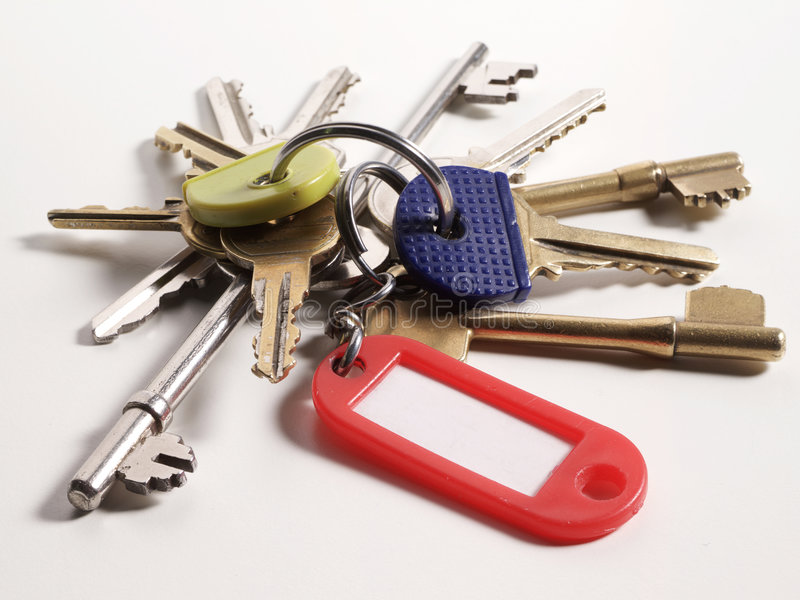 Download Keys stock image. Image of label, access, ring, open, brass - 4533111
